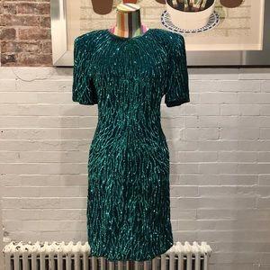 Laurence Kazar Vintage Sequin Evening Dress